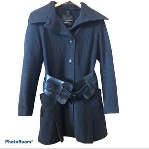 MACKAGE wool cashmere blend mid length pea coat